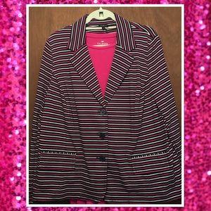 Talbots NWT Striped Cotton Jacket w/ Matching Tee
